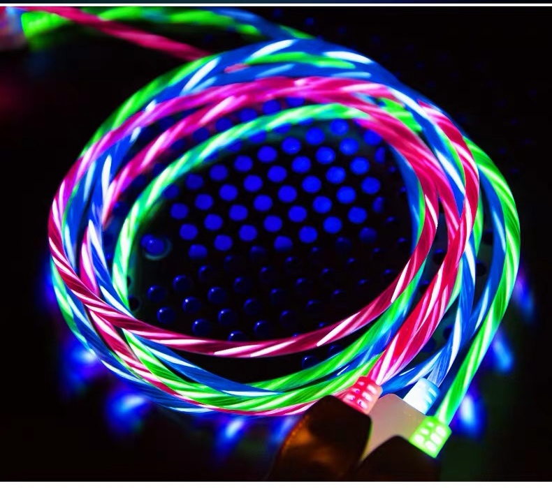Cable de Dato Type-C Con Luz LED Fluidez