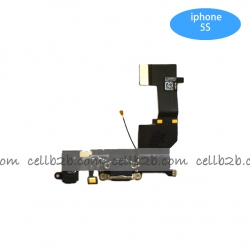 Cable Flex de Carga para iPhone 5S Negro | IPHONE 5S