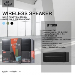 ellietech BT306 Altavoz Bluetooth 3W*2, USB/TF/FM | Altavoz