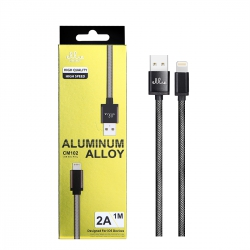 Ellietech CM102 Cable de Carga Aluminio para iPhone 6/7/8/X 2A 1.0M | Cable del móvil