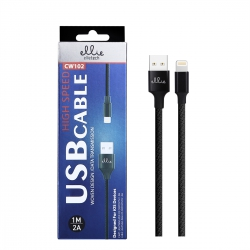 Ellietech CW102 Cable de Dato Lightning para iOS Dispositivos 1M 2A | Cable del móvil