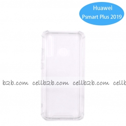 Funda Antigolpe para Huawei P Smart Plus 2019 Silicona Transparente PC+PTU NOVEDAD | Funda Antigolpe PC+TPU
