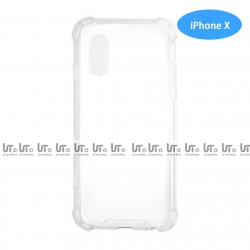 Funda Antigolpe para iPhone X Silicona Transparente PC+TPU Cambio de color | Funda Antigolpe PC+TPU