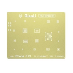 Plantilla Metalica de Chip IC QianLi 2D oro para Apple iPhone 6G 4.7 / 6 Plus 5.5 | Otros
