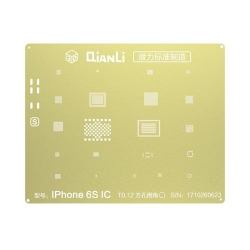 Plantilla Metalica de Chip IC QianLi 2D oro para Apple iPhone 6S 4.7 / 6S Plus 5.5 | Otros