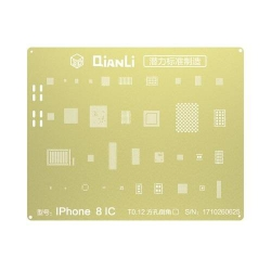 Plantilla Metalica de Chip IC QianLi 2D oro para Apple iPhone 8G 4.7 iPhone 8 Plus 5.5 iPhone X | Otros