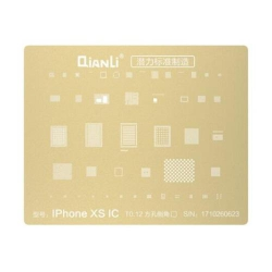 Plantilla Metalica de Chip IC QianLi 2D oro para Apple iPhone Xs / Xs Max / Xr | Otros