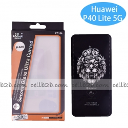 Protector Full Glue 5D Huawei P40 Lite 5G Negro NOVEDAD | Protectores 3D